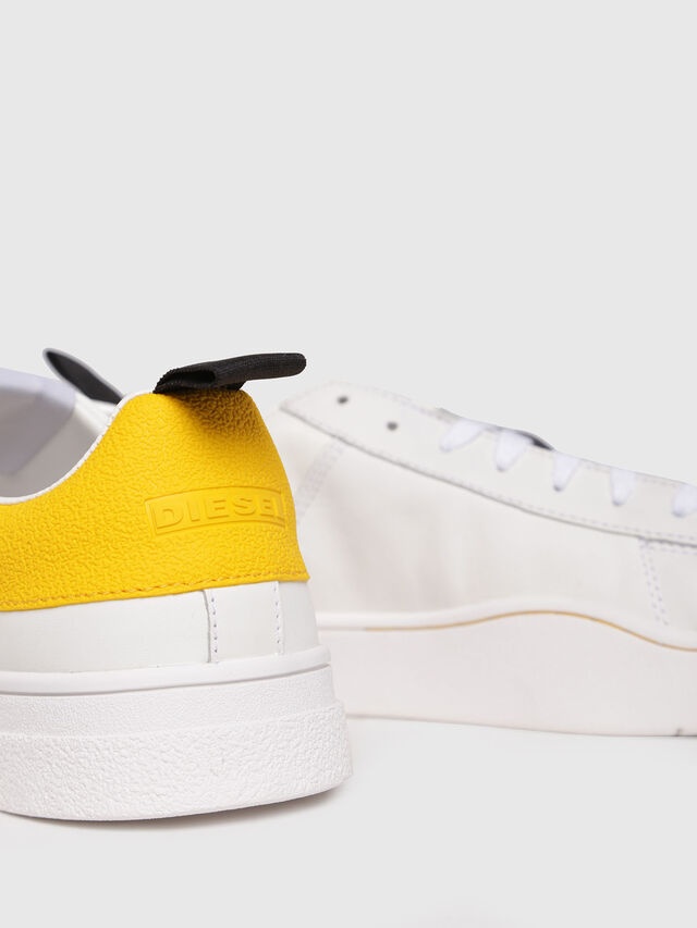 Diesel - S-CLEVER LOW, Bianco/Giallo - Sneakers - Image 4