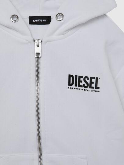 Diesel - SGIRKHOODZIP-LOGO OV, Bianco - Felpe - Image 3