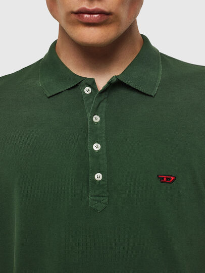 Diesel - T-NIGHT-NEW, Verde Scuro - Polo - Image 3