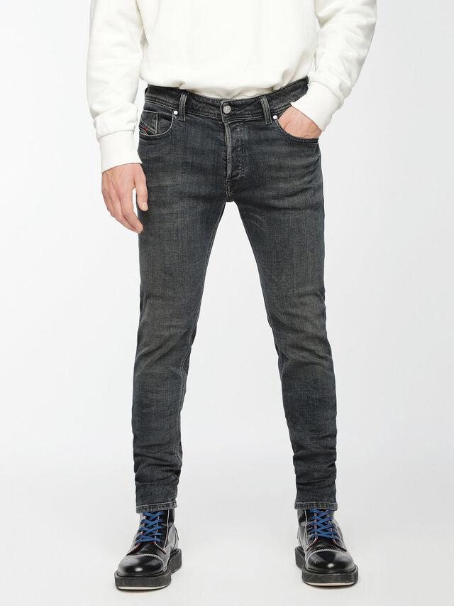 Diesel - Sleenker 084VQ, Nero/Grigio scuro - Jeans - Image 1