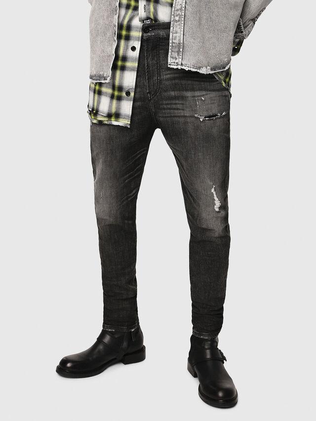 Diesel - D-Vider JoggJeans 0077S, Nero/Grigio scuro - Jeans - Image 1