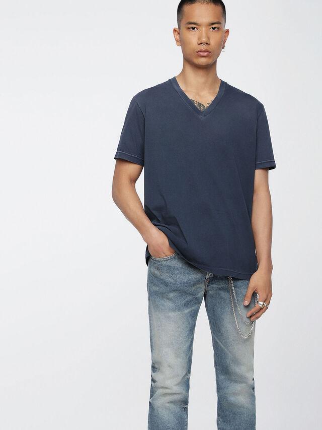 Diesel - T-KEITHS, Blu - T-Shirts - Image 1