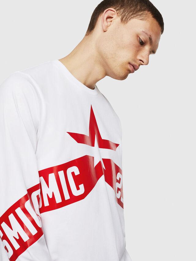 Diesel - T-JUST-LS-STAR, Bianco - T-Shirts - Image 4