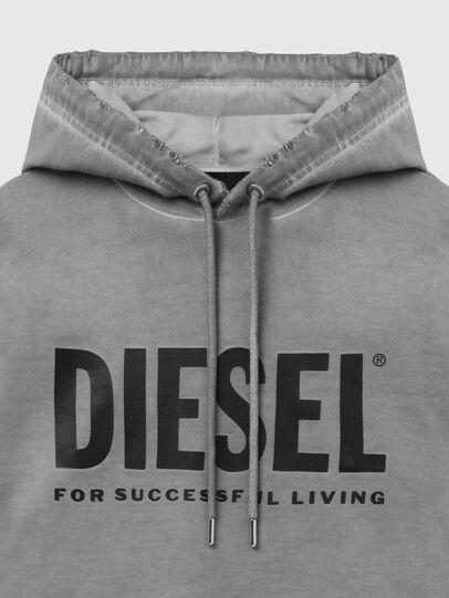Diesel - S-GIR-HOOD-DIVISION-, Grigio - Felpe - Image 3