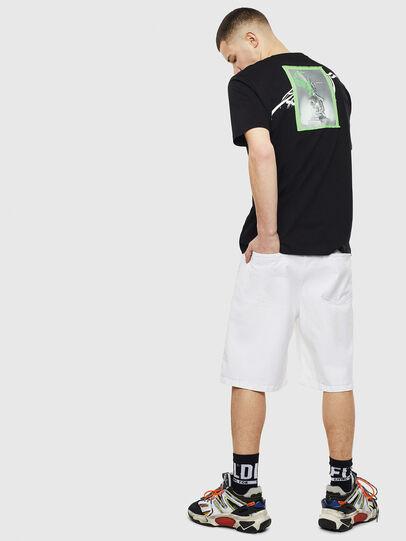 Diesel - T-JUST-T11, Nero - T-Shirts - Image 4
