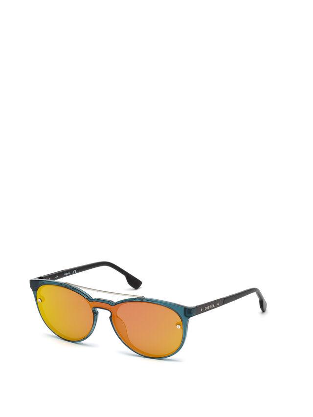 Diesel - DL0216, Blu/Arancio - Occhiali da sole - Image 4