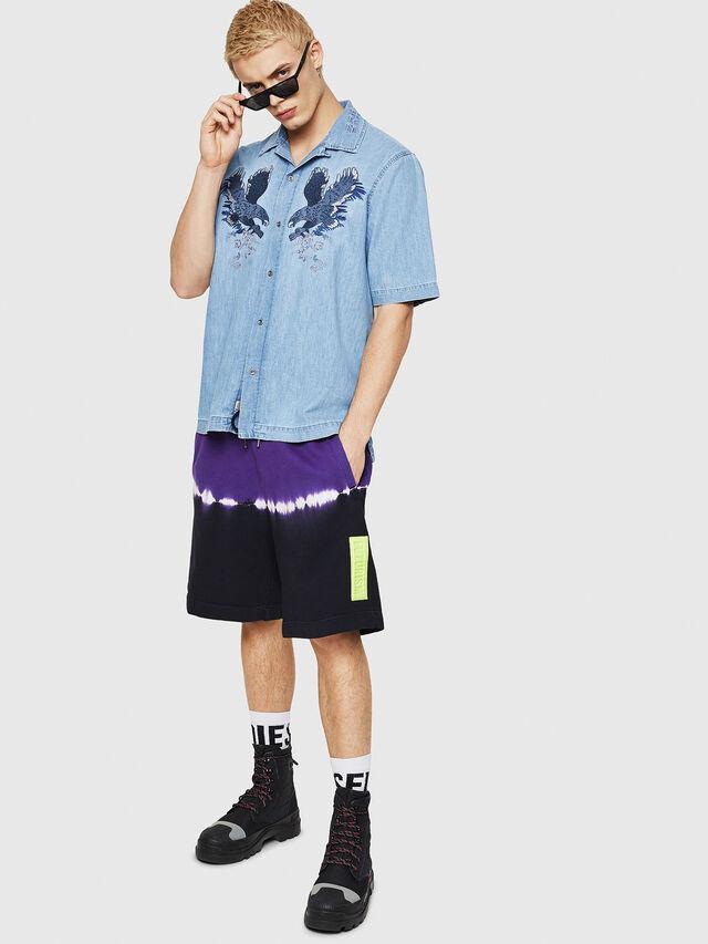 Diesel - D-RASHI, Blu Jeans - Camicie in Denim - Image 4
