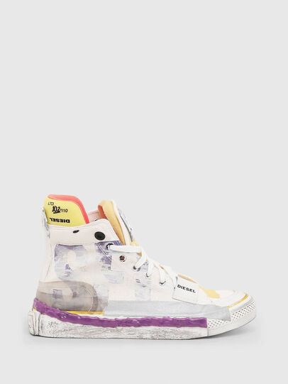 Diesel - S-ASTICO PNT W, Bianco/Rosa - Sneakers - Image 1