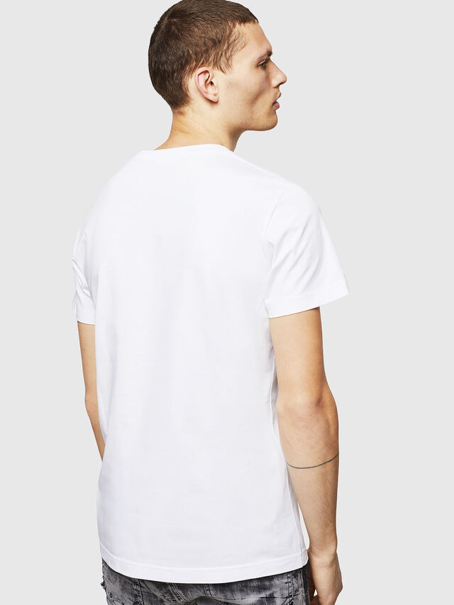 Diesel - T-DIEGO-POCKET-B1, Bianco - T-Shirts - Image 2
