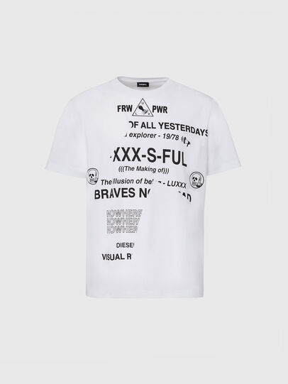 Diesel - T-JUST-FOLDED, Bianco - T-Shirts - Image 1