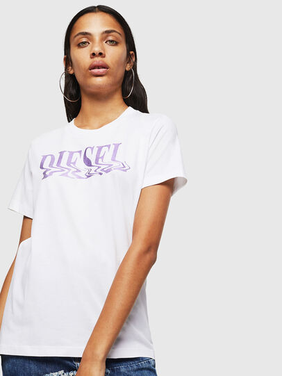 Diesel - T-SILY-WN, Bianco/Rosa - T-Shirts - Image 1