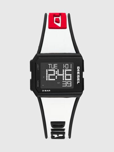 Orologio digitale Chopped in silicone bianco