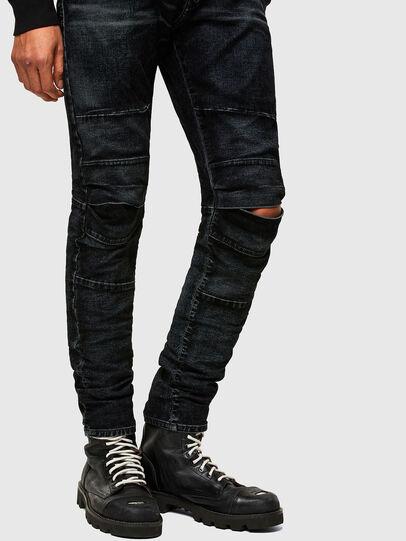 Diesel - D-Strukt JoggJeans® 069TG, Nero/Grigio scuro - Jeans - Image 8