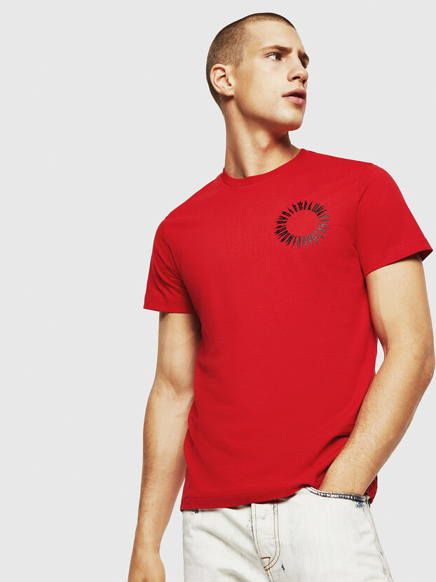 T-DIEGO-A12, Rosso Fuoco - T-Shirts