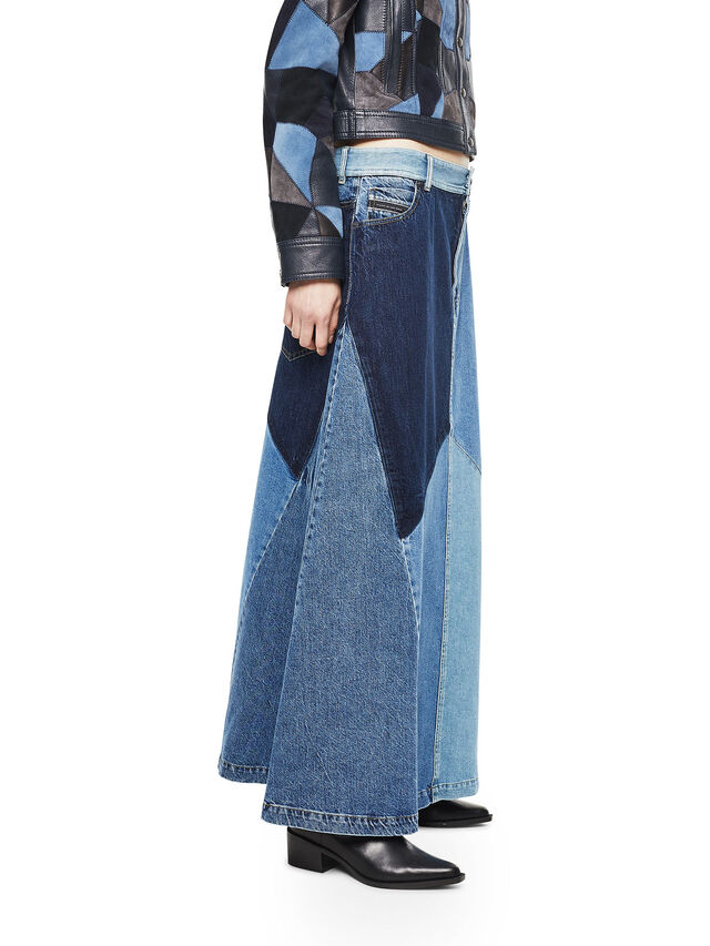 Diesel - ODETTE, Blu Jeans - Gonne - Image 3