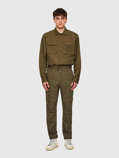 Diesel - P-SIDE, Verde Militare - Pantaloni - Image 6