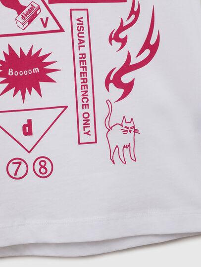 Diesel - TDARIAE, Bianco - T-shirts e Tops - Image 4