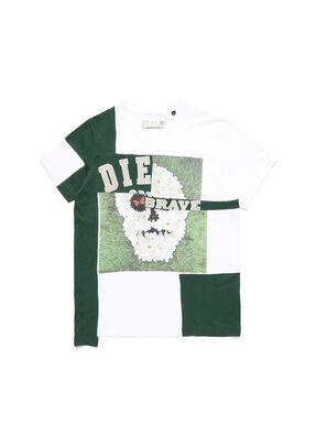 D-FRANKENSTEIN 2.1, Bianco/Verde - T-Shirts