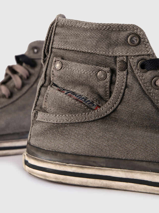 Diesel - EXPOSURE IV W, Grigio Jeans - Sneakers - Image 5