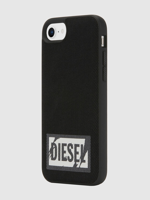 Diesel - BLACK DENIM IPHONE 8/7/6S/6 CASE, Nero - Cover - Image 6