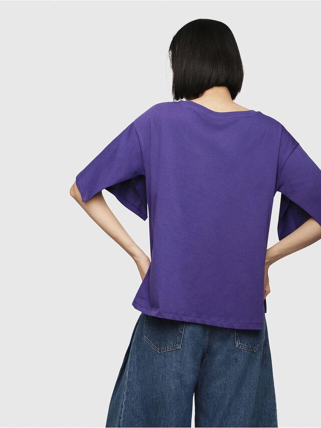 Diesel - T-JACKY-D, Viola - T-Shirts - Image 2