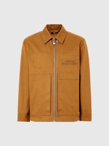 Camicia oversize in twill di cotone