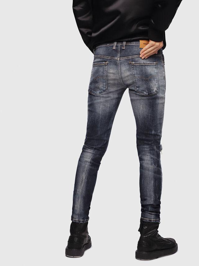 Diesel - Sleenker 069DJ, Blu Scuro - Jeans - Image 2