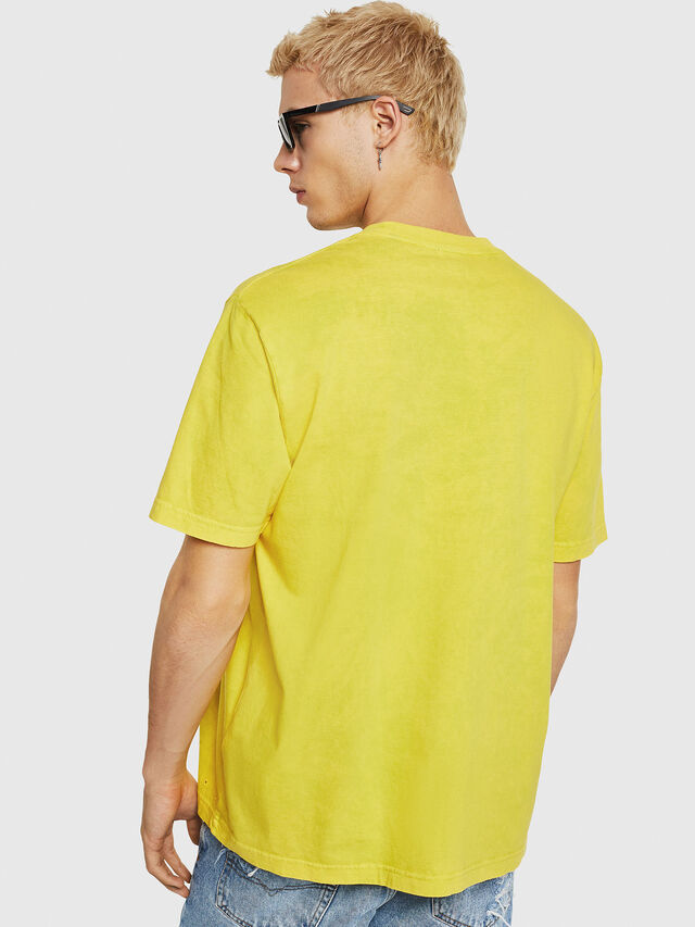 Diesel - T-JUST-Y18, Giallo - T-Shirts - Image 3