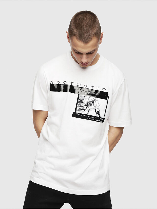 Diesel - T-JUST-YP, Bianco - T-Shirts - Image 1