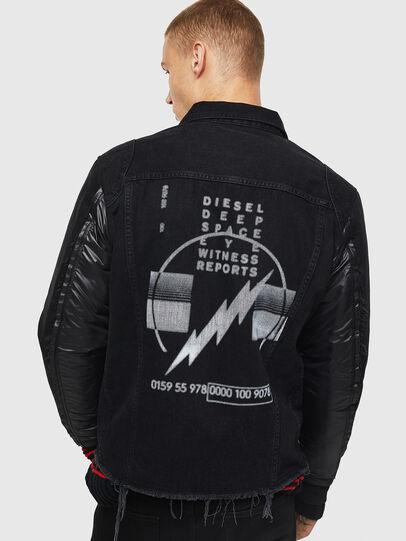 Diesel - D-BLIT, Nero/Grigio scuro - Giacche in denim - Image 2