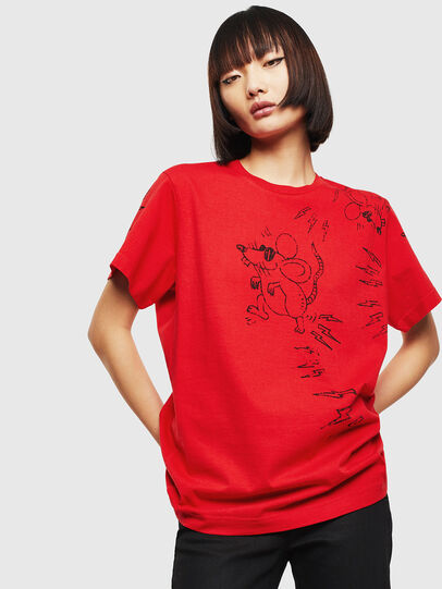 Diesel - CL-T-DIEGO-3, Rosso - T-Shirts - Image 2