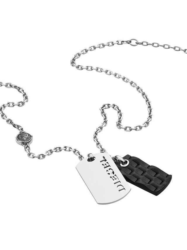 Diesel - NECKLACE DX1014, Argento - Collane - Image 2