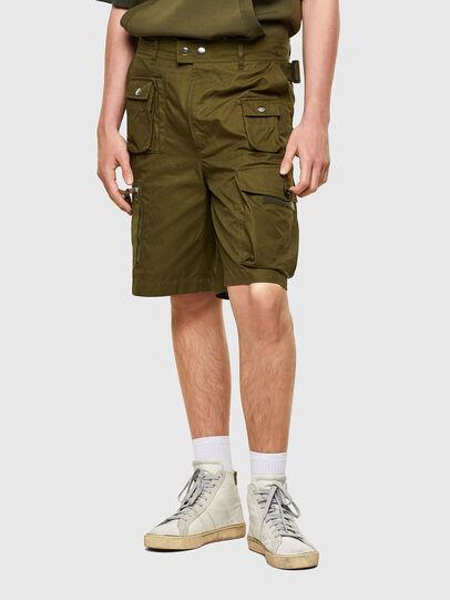 Diesel - P-CYAN-SHORT, Verde Militare - Shorts - Image 1