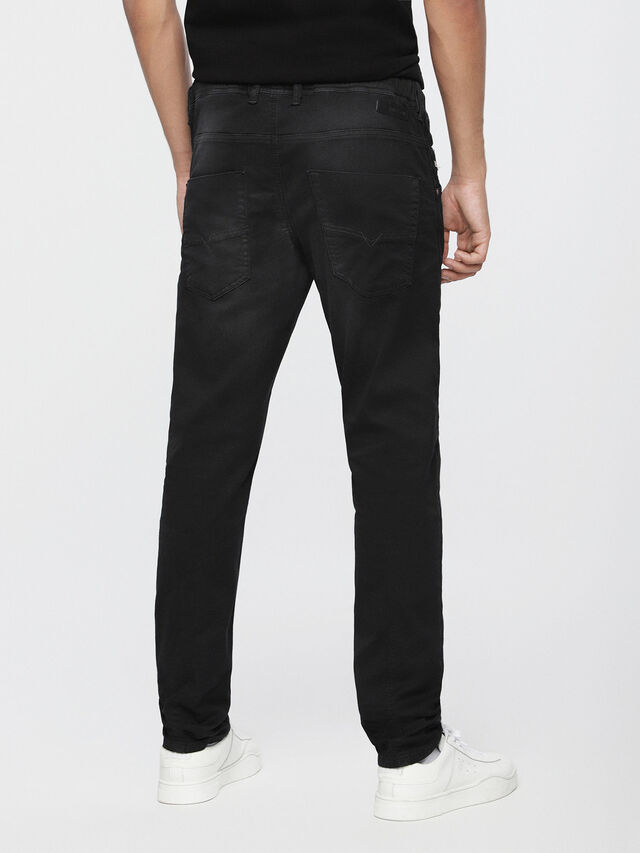 Diesel - Krooley JoggJeans 0670M, Nero Jeans - Jeans - Image 2