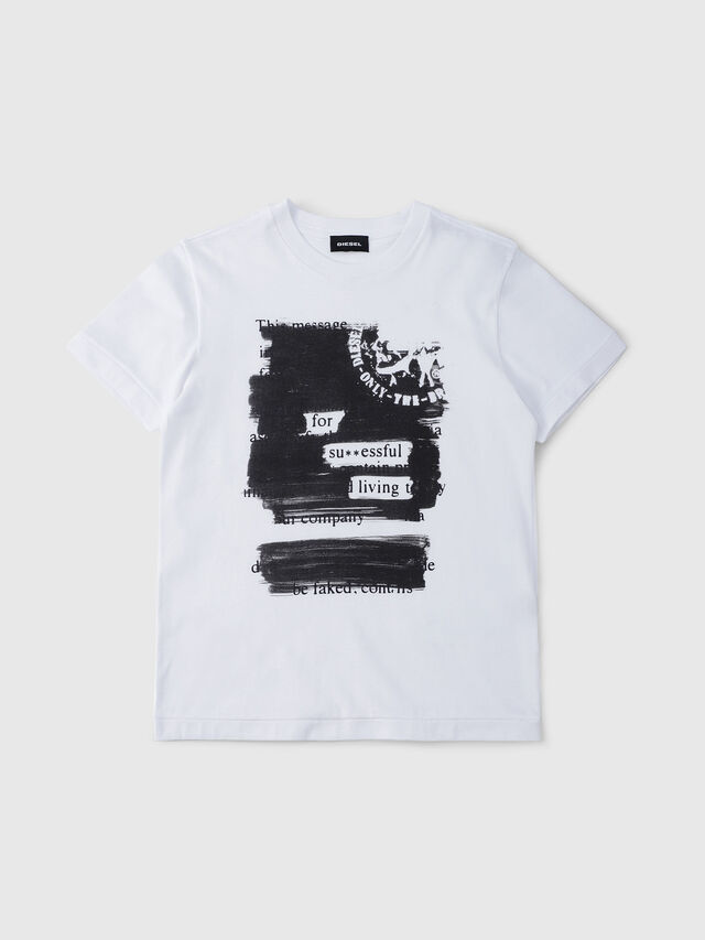 Diesel - TDIEGORH, Bianco - T-shirts e Tops - Image 1