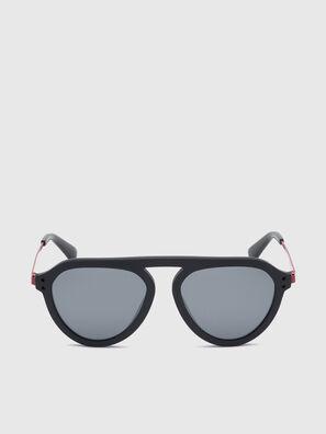 DL0277, Nero/Rosso - Occhiali da sole