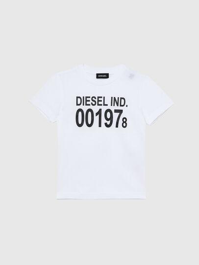 Diesel - TDIEGO001978B-R, Bianco/Nero - T-shirts e Tops - Image 1