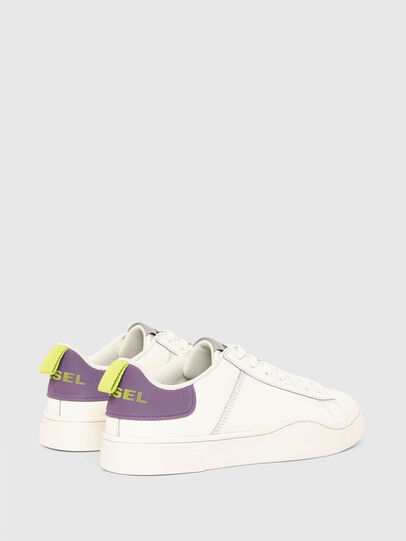 Diesel - S-CLEVER LOW LACE W, Bianco/Viola - Sneakers - Image 3