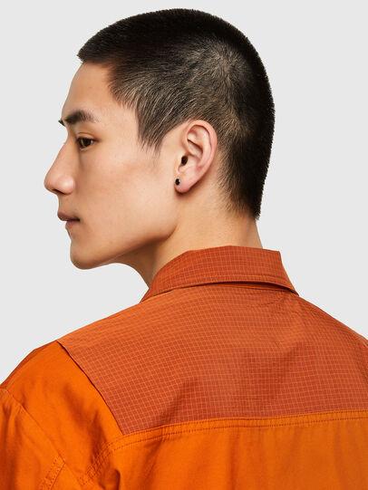 Diesel - S-GUNN-LS, Arancione - Camicie - Image 4