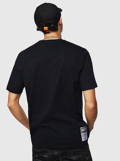 Diesel - T-JUST-B23, Nero - T-Shirts - Image 3