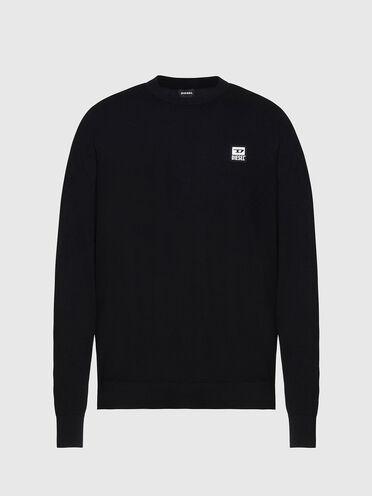Pullover in cotone con applicazione con logo