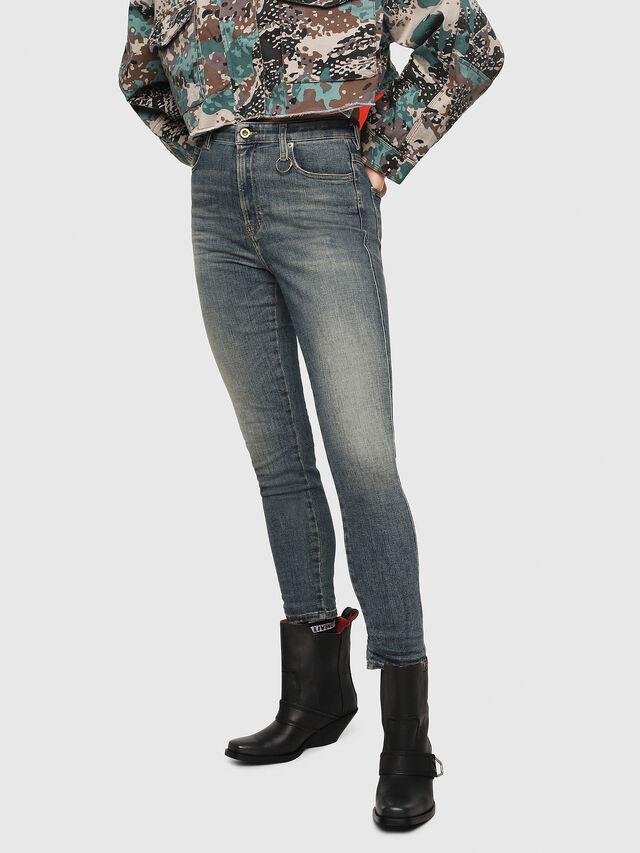 Diesel - Babhila High 086AU, Blu medio - Jeans - Image 1