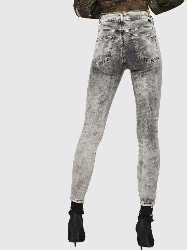 Diesel - Slandy High 069GQ, Grigio Chiaro - Jeans - Image 2
