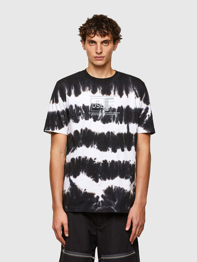 Diesel - T-JUST-A38, Nero/Bianco - T-Shirts - Image 1