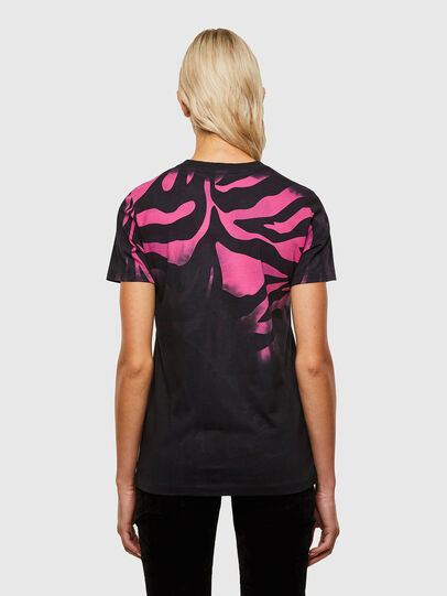 Diesel - T-SILY-R3, Nero/Rosa - T-Shirts - Image 2