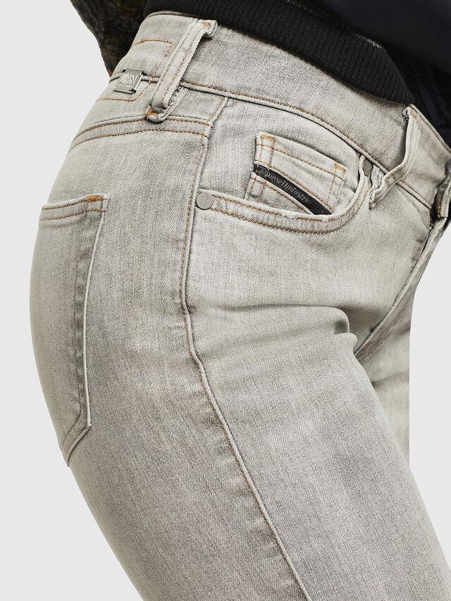Diesel - Slandy Zip 086AE, Grigio Chiaro - Jeans - Image 4