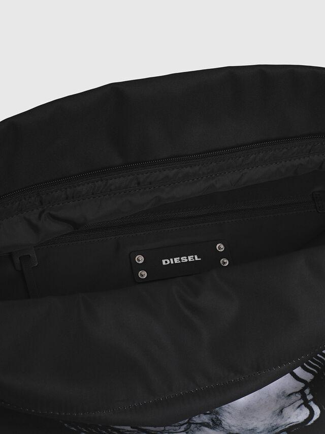 Diesel - F-LITT SHOPPER EW, Nero/Bianco - Pochette - Image 4