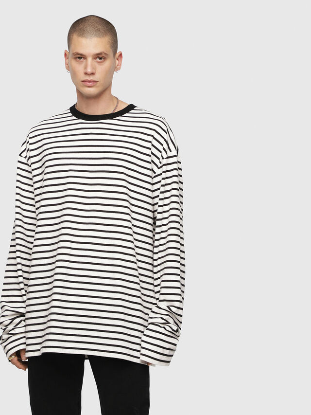 Diesel - T-DAICHI, Bianco/Nero - T-Shirts - Image 1