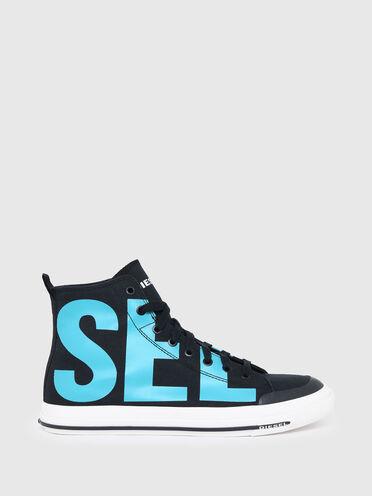 Sneaker alte con stampa del logo