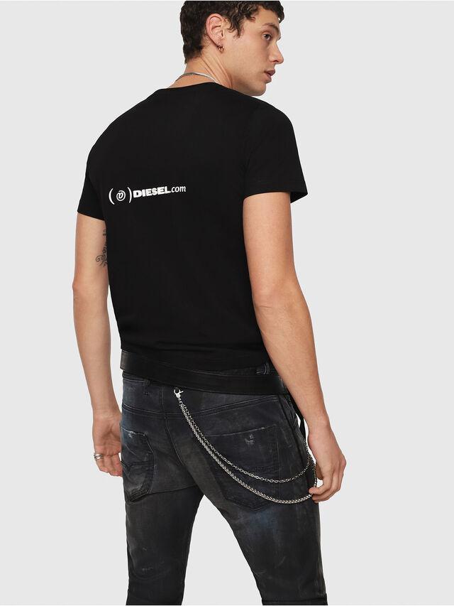 Diesel - CL-T-GADIE, Nero - T-Shirts - Image 3
